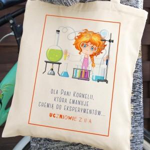 spersonalizowana torba na podziękowanie dl nauczyciela chemii