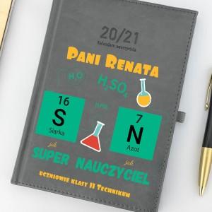 spersonalizowany kalendarz na prezent dla nauczyciela