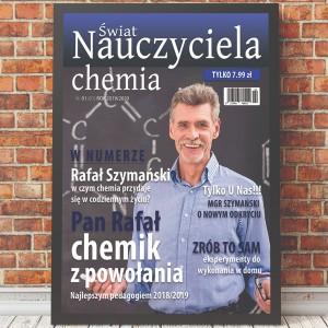 okładka gazety w ramce na prezent dla nauczyciela chemii