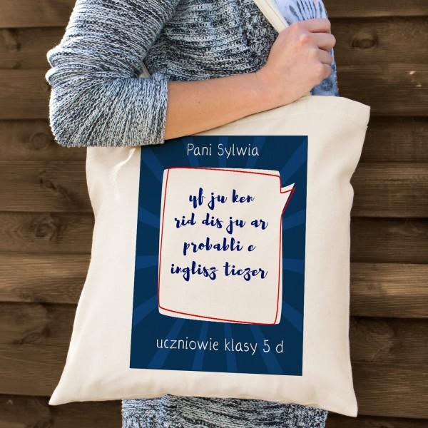 torba bawełniana na prezent dla nauczyciela języka angielskiego