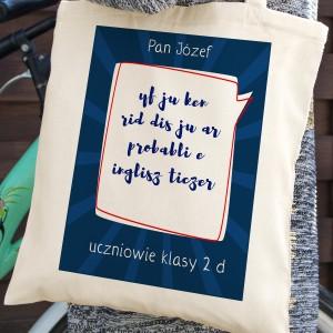 spersnalizowany nadruk na bawełnianej torbie