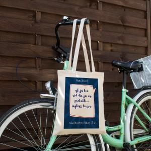 torba z indywidualnym nadrukiem dla nauczycielki angielskiego