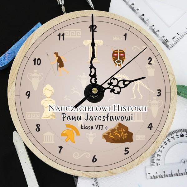 na prezent na Dzień Nauczyciela zegar z grawerem dla historyka - Antyk