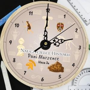 zegar z grawerem dla historyka - Antyk na prezent dla nauczyciela historii