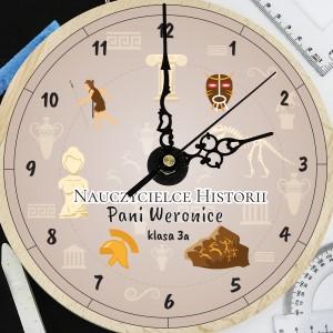 na prezent dla nauczyciela na koniec roku zegar z grawerem dla historyka - Antyk