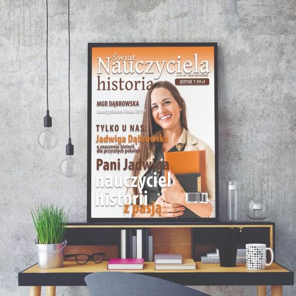 na prezent dla nauczyciela okładka magazynu ze zdjęciem w ramie dla nauczyciela historii