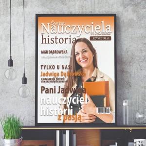 okładka magazynu ze zdjęciem w ramie dla nauczyciela historii na prezent dla historyka