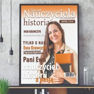 prezent na Dzień Nauczyciela okładka magazynu ze zdjęciem w ramie dla nauczyciela historii