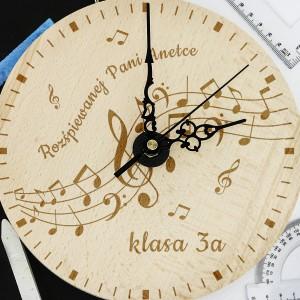 zegar z grawerem dla muzyka - Wesoła Nuta na preznt dla nauczyciela muzyki