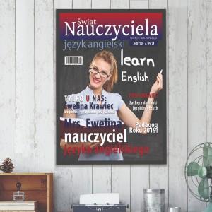 spersonalizowana okładka na prezent dla nauczyciela angielskiego