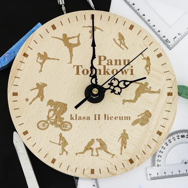 zegar z grawerem na prezent dla nauczyciela
