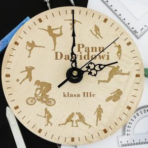 grawerowany zegar z indywidualną dedykacją