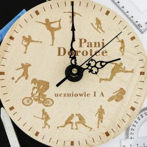 spersonalizowany drewniany zegar