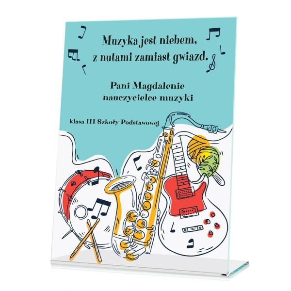 na prezent na Dzień Nauczyciela statuetka dla nauczyciela muzyki - Muzyka Sfer