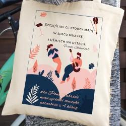 prezent na dzień Nauczyciela torba bawełniana dla nauczyciela muzyki - W Duecie