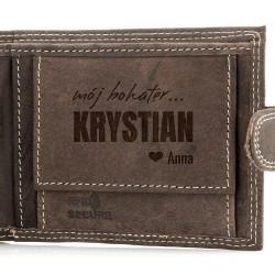 na prezent dla chłopaka portfel męski z grawerem - My Hero