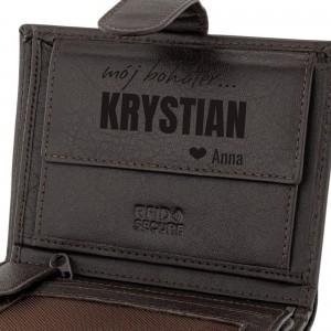 na prezent dla chłopaka portfel męski z grawerem personalizacji - My Hero