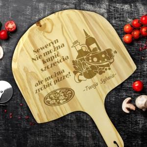 na prezent dla chłopaka kamień do pizzy z deską z grawerem - Felicita