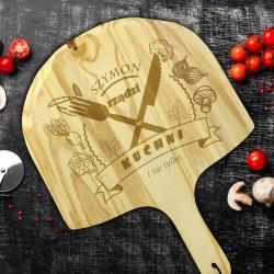 na prezent dla narzeczonego kamień do pizzy z deską z grawerem - Premier