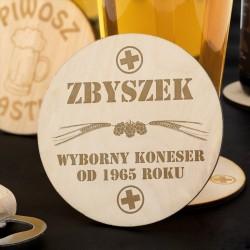 na prezent na dzień chłopaka podkładki pod piwo z grawerem - Koneser