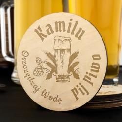 podkładki pod piwo z grawerem - Sknerus na prezent dla ukochanego