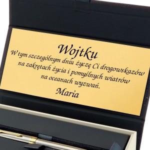 długopis z grawerem w pudełku na prezent