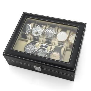 szkatułka etui na zegarki - Dotyk Miłości na prezent dla mężczyzny
