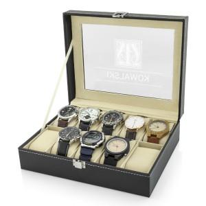na prezent dla narzeczonego szkatułka etui na zegarki - Męska Rzecz
