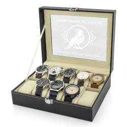 na prezenty dla niego szkatułka etui na zegarki - Biały Kruk