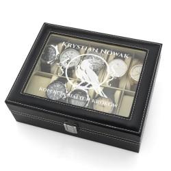 szkatułka etui na zegarki - Biały Kruk na prezent dla chłopaka