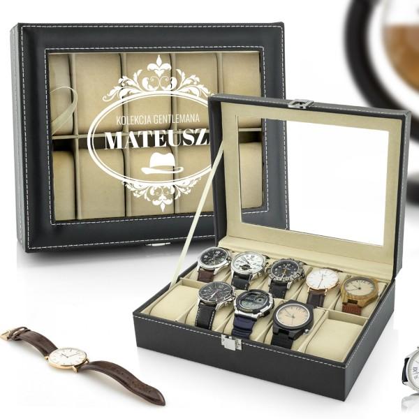 na prezent dla mężczyzny szkatułka etui na zegarki - Dżentelmen
