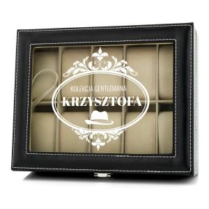 na prezent dla ukochanego szkatułka etui na zegarki - Dżentelmen