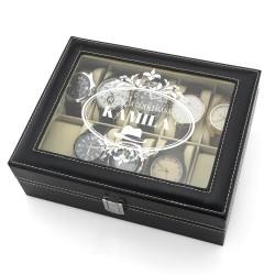szkatułka etui na zegarki - Dżentelmen na prezent dla niego