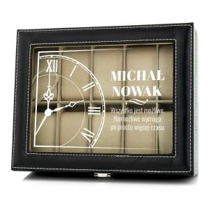 na prezent dla męża szkatułka etui na zegarki - Śpiesz się Powoli