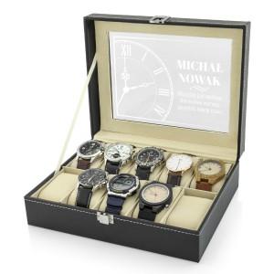 na prezent dla narzeczonego szkatułka etui na zegarki - Śpiesz się Powoli