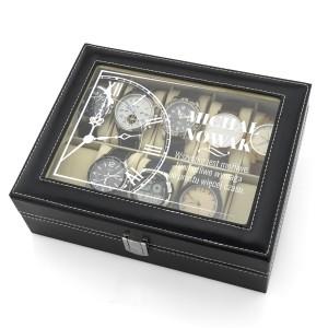 szkatułka etui na zegarki - Śpiesz się Powoli na prezent na dzień chłopaka
