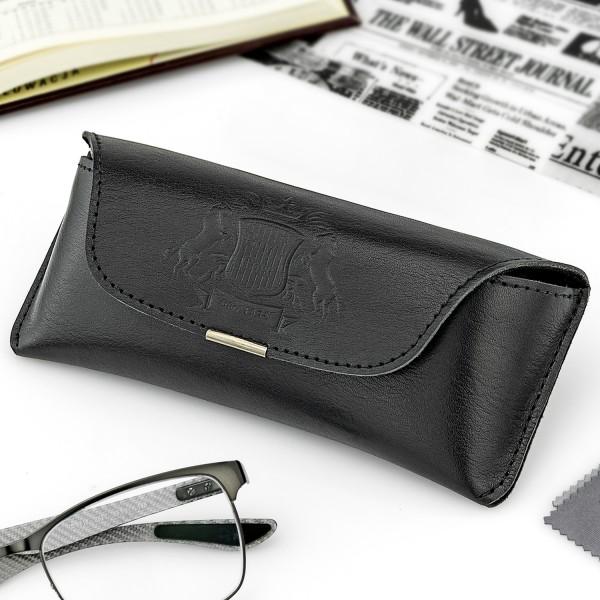 na prezent dla niego eleganckie czarne etui na okulary - Sygnatura