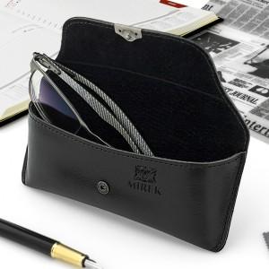 eleganckie czarne etui na okulary - Sygnatura na prezent na dzień nauczyciela