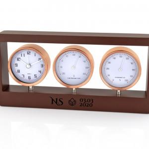 stacja pogody - budzik, termometr, higrometr z opcją graweru na prezent na urodziny