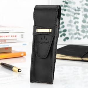 na prezent dla wykładowcy czarne etui na długopis i pióro z grawerem