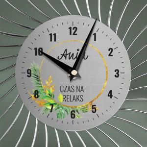 zegar z nadrukiem na ścianę na prezent dla siostry