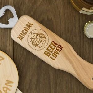 na prezent na 18 otwieracz do butelek z drewna