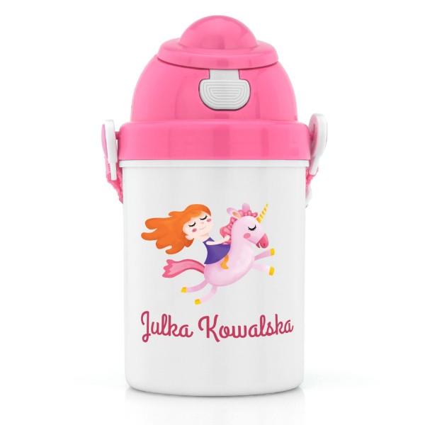 na prezent dla dziewczynki bidon z nadrukiem dla dziecka