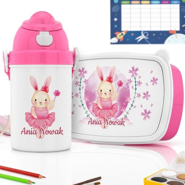 na prezent dla dziewczyny zestaw prezentowy dla dziecka pudełko śniadaniowe i bidon
