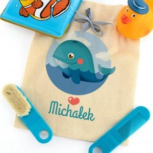 na prezent na mikołajki zestaw do kąpieli dla chłopca w woreczku