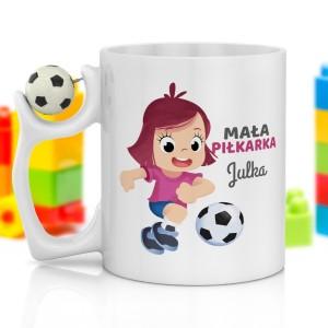 na prezent urodzinowy dla dziewczynki kubek z piłką