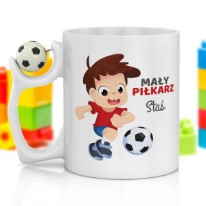 na prezent na dzień dziecka kubek z nadrukiem i piłką