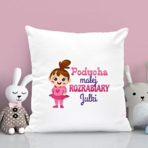 na prezent na mikołajki poduszka dla dziewczynki z personalizacją - Sama w Domu