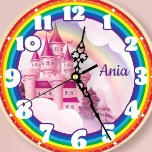 zegar dla dziewczynki z nadrukiem imienia