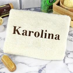 ręcznik do kąpieli na prezent z haftem imienia